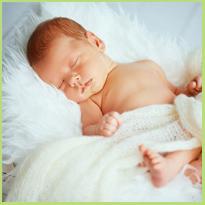 Verwondering en verbazing eerste contact met baby