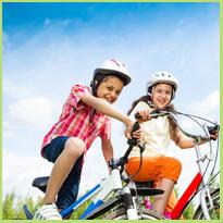 Op de fiets naar school