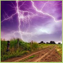 Bang voor onweer