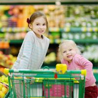 Met de kids naar de supermarkt