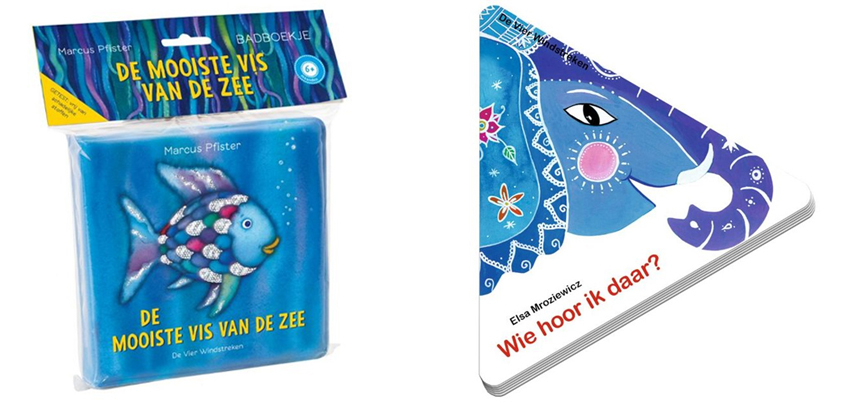 Blauw waterig kinderboekenpakket