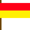 Betekenis strandvlaggen - Rood-gele vlag