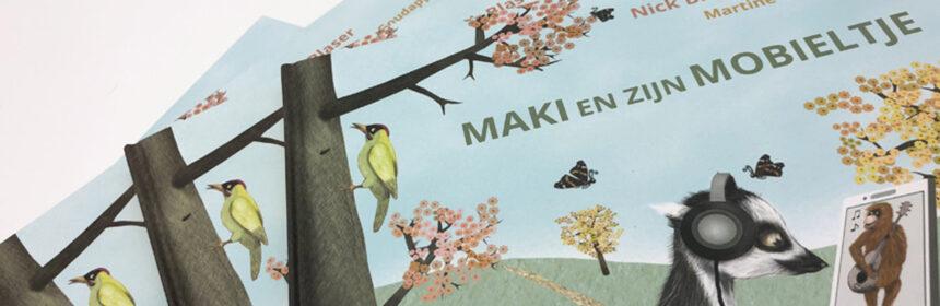 Maki en zijn mobieltje
