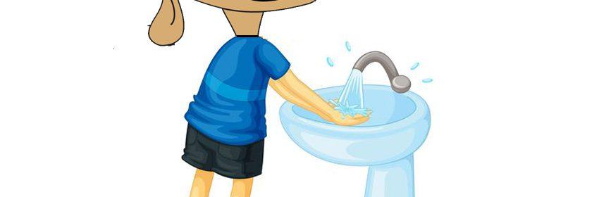 Willy Woef moet handen wassen