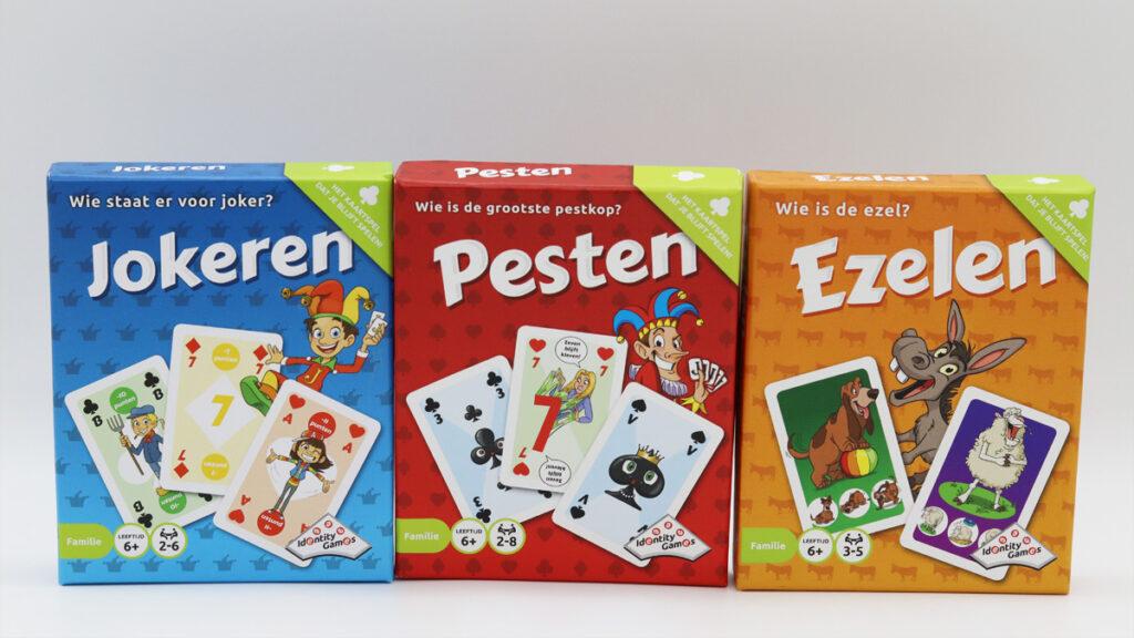 De kaartspellen van Identity Games