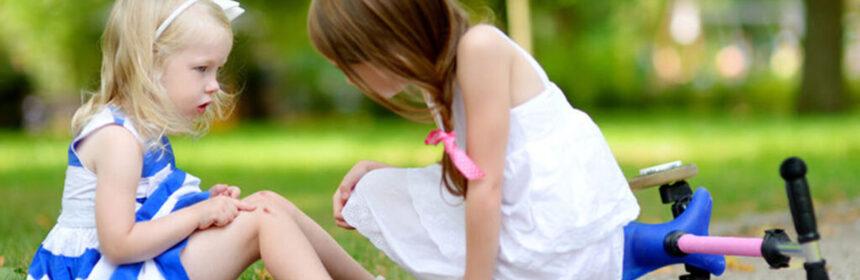 Schaafwonden en snijwonden - EHBO bij kinderen