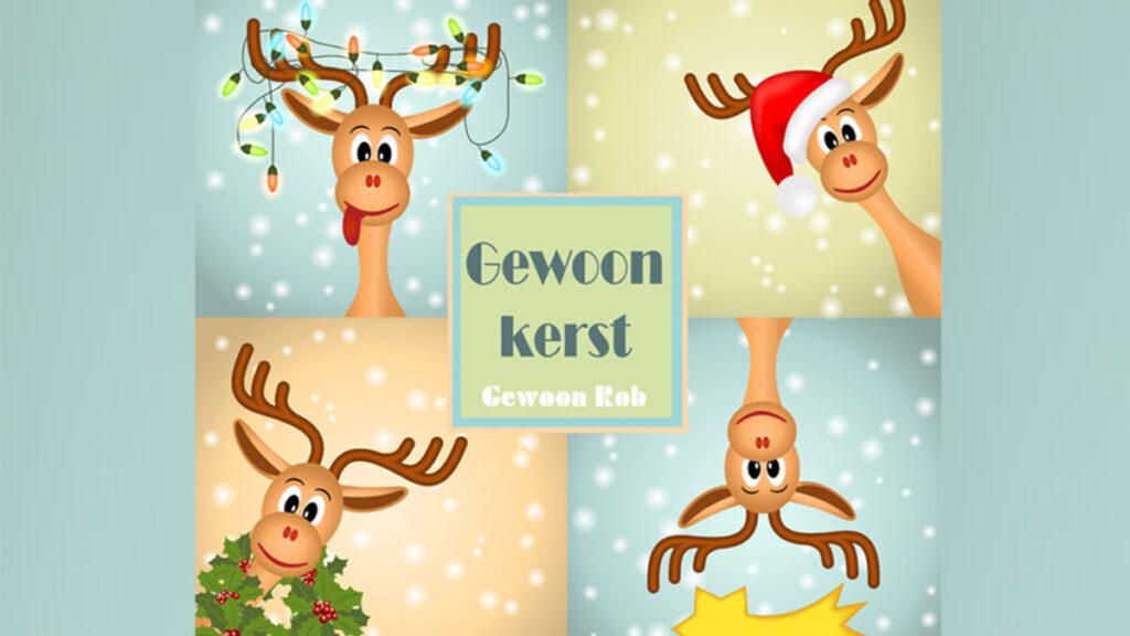 Verfrissende kerstliedjes van Gewoon Rob op de CD Gewoon Kerst